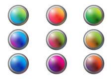 Botón lindo del círculo Foto de archivo