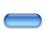 Botón llano del Aqua/del gel Imagenes de archivo