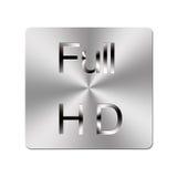 Botón lleno del metal HD. Imágenes de archivo libres de regalías