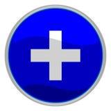 Botón más Fotografía de archivo libre de regalías