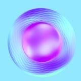 Botón metálico de la turquesa púrpura elegante abstracta Fotos de archivo libres de regalías
