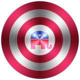Botón metálico republicano ilustración del vector