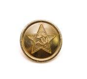 Botón militar soviético Foto de archivo libre de regalías