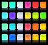 Botón multicolor de la vendimia Imagen de archivo libre de regalías