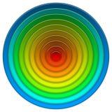 Botón multicolor redondo Fotografía de archivo libre de regalías