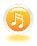 Botón musical del Internet stock de ilustración