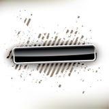 Botón negro brillante Fotografía de archivo libre de regalías