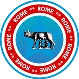 Botón o sello de Roma ilustración del vector