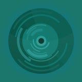 Botón o vinilo material abstracto del círculo del diseño Fotos de archivo
