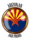 Botón orgulloso de la bandera de Arizona ilustración del vector