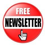 Botón para el boletín de noticias libre Fotografía de archivo