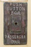Botón para el vehículo de pasajeros Imagenes de archivo