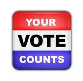 Botón para las elecciones presidenciales americanas Fotografía de archivo