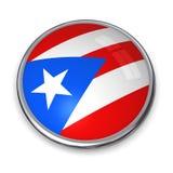 Botón Puerto Rico de la bandera Fotos de archivo