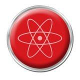 Botón radiactivo Imágenes de archivo libres de regalías
