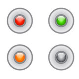 Botón realista del metal con el proceso circular Imagenes de archivo