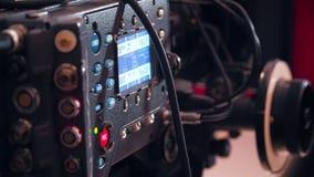 Botón rec de la persona en cámara de la cinematografía almacen de video