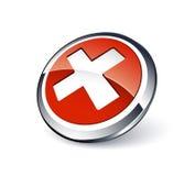 Botón rechazado Foto de archivo