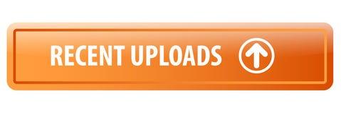 Botón reciente del web de las cargas por teletratamiento stock de ilustración