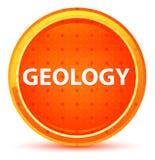 Botón redondo anaranjado natural de la geología stock de ilustración