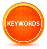 Botón redondo anaranjado natural de las palabras claves ilustración del vector