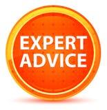 Botón redondo anaranjado natural del asesoramiento de experto libre illustration