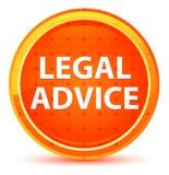 Botón redondo anaranjado natural del asesoramiento jurídico ilustración del vector