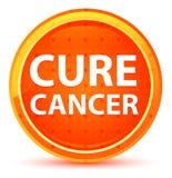 Botón redondo anaranjado natural del cáncer de la curación stock de ilustración