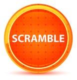 Botón redondo anaranjado natural del despegue en tiempo mínimo stock de ilustración