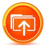 Botón redondo anaranjado natural del icono de los ficheros de la carga por teletratamiento libre illustration