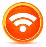 Botón redondo anaranjado natural del icono de Wifi ilustración del vector