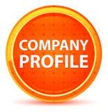 Botón redondo anaranjado natural del perfil de compañía stock de ilustración