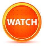 Botón redondo anaranjado natural del reloj ilustración del vector
