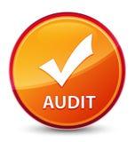 Botón redondo anaranjado vidrioso especial de la auditoría (valide el icono) libre illustration