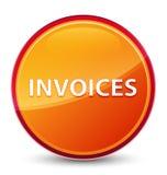 Botón redondo anaranjado vidrioso especial de las facturas stock de ilustración