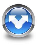Botón redondo azul brillante del icono de la parte libre illustration