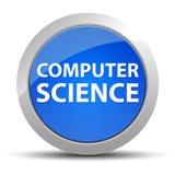 Botón redondo azul de informática ilustración del vector