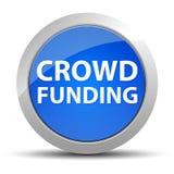 Botón redondo azul de la financiación de la muchedumbre stock de ilustración