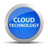 Botón redondo azul de la tecnología de la nube stock de ilustración
