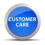 Botón redondo azul del cuidado del cliente ilustración del vector