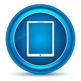 Botón redondo azul del globo del ojo del icono de la tableta libre illustration