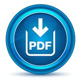 Botón redondo azul del globo del ojo del icono de la transferencia directa del documento del pdf stock de ilustración