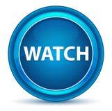 Botón redondo azul del globo del ojo del reloj libre illustration