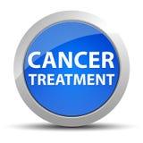 Botón redondo azul del tratamiento contra el cáncer stock de ilustración