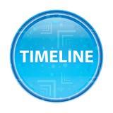 Botón redondo azul floral de la cronología ilustración del vector
