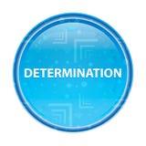 Botón redondo azul floral de la determinación ilustración del vector
