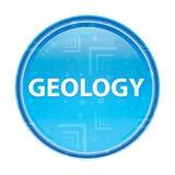 Botón redondo azul floral de la geología libre illustration