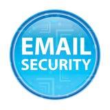 Botón redondo azul floral de la seguridad del correo electrónico stock de ilustración