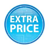 Botón redondo azul floral del precio adicional libre illustration