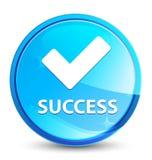 Botón redondo azul natural del chapoteo del éxito (valide el icono) libre illustration